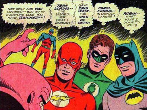 Batman, Flash, Green Lantern and Atom