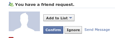 blank facebook friend request