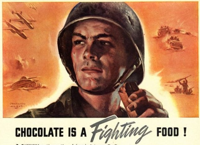 Chocolate is a Fighting Food - Nestle WW2 ad