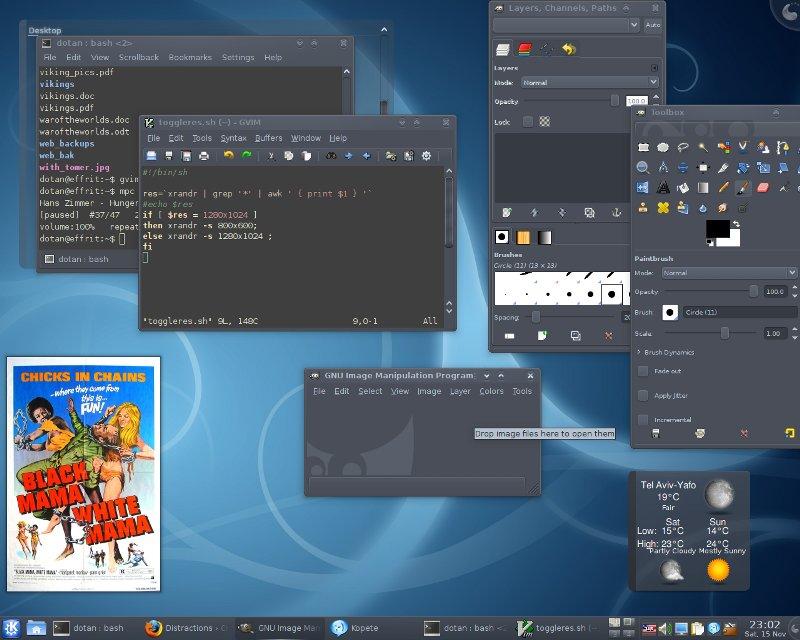 KDE4 Aya + Wonton Soup + Zenburn