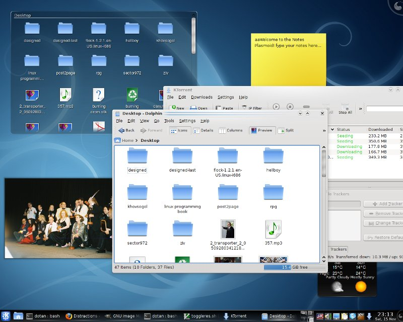 Kubuntu default colors